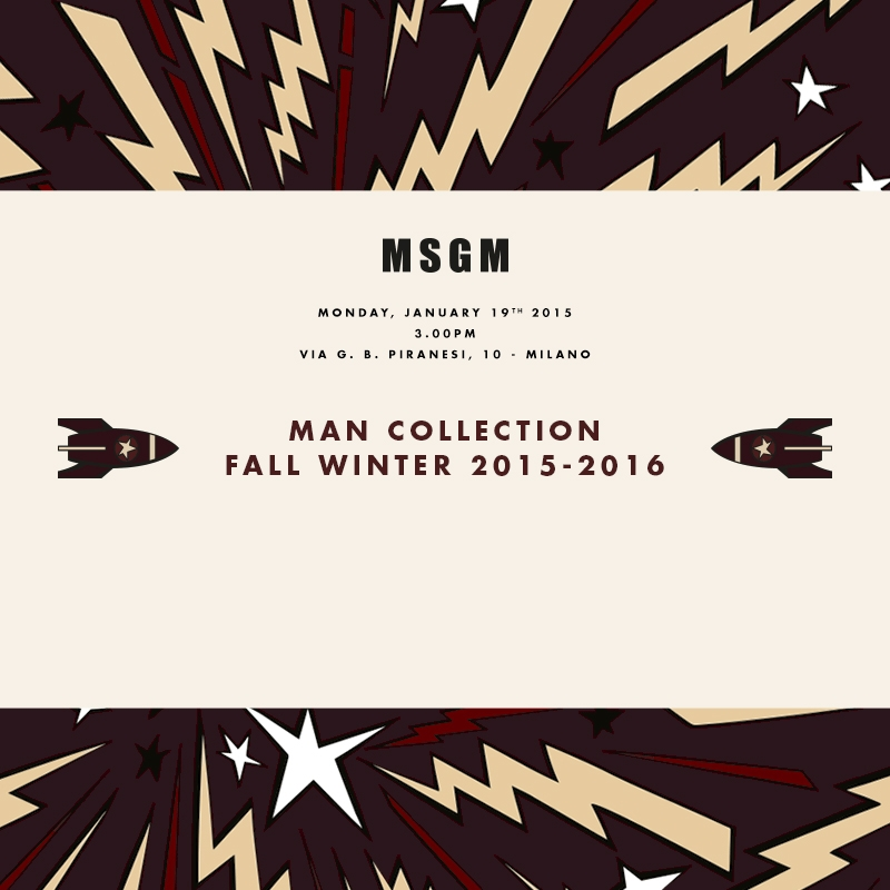 MSGM - Man Collection Fall Winter 2015 - 2016